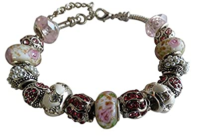 Always in Style, Mother's Day Bracelet - Charm Bracelet for Women - Floating Charms, Designer Inspired Jewelry - Pink