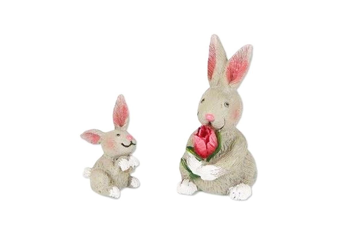 New Miniature Mary Engelbreit Mini Dollhouse FAIRY GARDEN Accessoriess - Rabbit Family - Set of 2 - Mini.