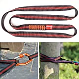 Boaton 48'' Climbing Utility Cord, Tree Climbing Gear, Safety Harness Tree Strap for Tree Work, Rock Climbing, Mountaineering, Rappelling, Hiking, Emergency Gear