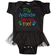 inktastic - My Memaw Loves Me Gift Infant Tutu Bodysuit 6 Months Black 2fc4e