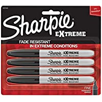 Sharpie Extreme Permanent Markers,4-Count (Black)