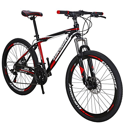 EUROBIKE Moutain Bike X1 GTR Aluminium Frame 21 Speed MTB 26 Inches Wheels Mountan Bicycle