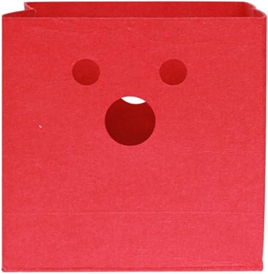 inwagui fieltro cesta almacenaje caja de almacenaje infantil almacenaje de juguetes 30 x 30 x 30 cm caja de almacenaje de juguete: Amazon.es: Hogar