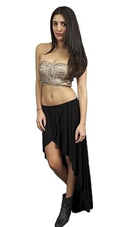 d2bcbb44fbce6 Gypsy Junkies Studio Hi Low Maxi Skirt in Black (S M) at Amazon ...