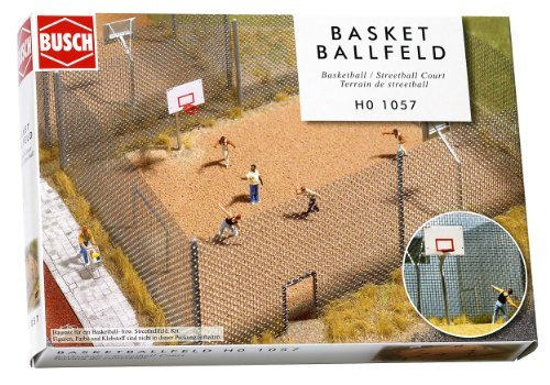Busch Gmbh and Co Kg - Fenced Basketball Court HO by Busch