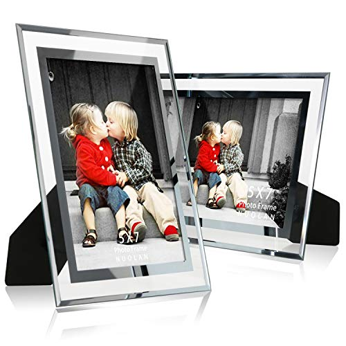 ture Frame Tabletop Mirror Photo Frames 5 by 7 for Home Office Business, Set of 2 ()