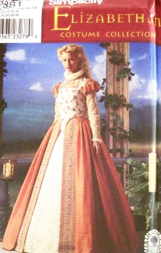 [Simplicity 8881 Historical Elizabethan Gown Costume Sewing Pattern Size 6-12] (Elizabethan Costume Patterns)