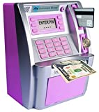 Kids' Gift Personal ATM Cash Coin Money Savings Bank Pink Machine