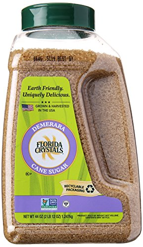Florida Crystals Demerara Cane Sugar, 44 oz