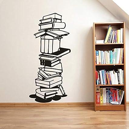 YuanMinglu Libros de Lectura Biblioteca Escolar decoración de la Pared Pared de Vinilo 31.2 cm x 68.4cm: Amazon.es: Hogar