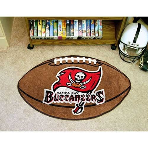 NFL Tampa Bay Buccaneers Football Shaped Accent (Tampa Bay Buccaneers Team Carpet)