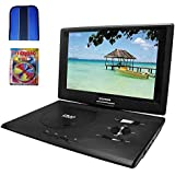 "Sylvania 13.3"" Swivel Screen Portable DVD Player w/ USB-SD Card Reader (SDVD1332) - Essentials Bundle Includes, Trisonic Lens Cleaning Kit & CD/DVD Wallet"