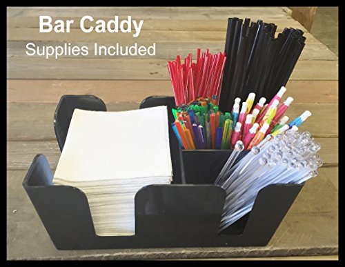 - Bar Caddy / Organizer Black BAR SUPPLIES INCLUDED