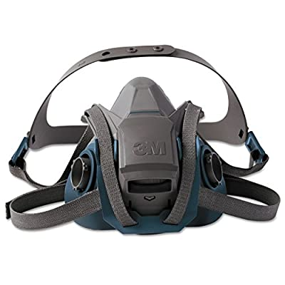 3M Personal Safety Division 6503QL Rugged Comfort Quic-Latch Half-Facepiece Reusable Respirators, Large, Grey/Teal