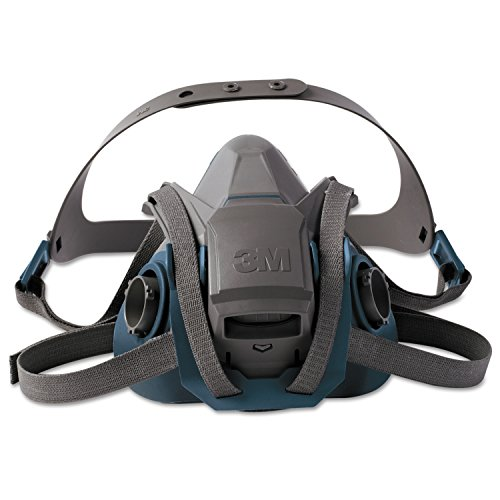 - 3M Personal Safety Division 6503QL Rugged Comfort Quic-Latch Half-Facepiece Reusable Respirators, Large, Grey/Teal