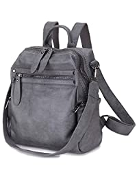 Women Backpack Purse,Fashion Convertible PU Leather Backpack in 2 Ways to Carry, Mini Rucksack for Girls VONXURY