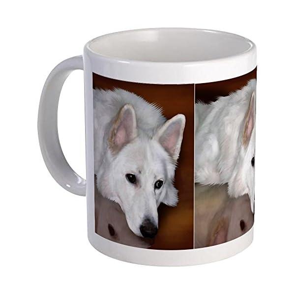CafePress White German Shepherd Dog Mug Unique Coffee Mug, Coffee Cup 2