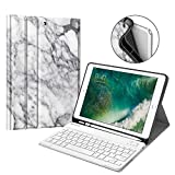 Fintie iPad 9.7 2018 Keyboard Case with Built-in Pencil Holder, [SlimShell] Soft TPU