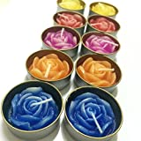 New 10 Pcs Set Mini Thai Aroma Candle Floating Flower Rose Small Spa Handcraft Craved Home Garden Interia Decor
