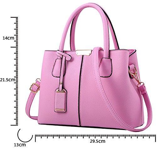 bag leather handbag Women Messenger Tisdaini simple Pink wallet shoulder PU simple fashion color v0wnBvA4q