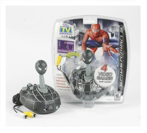 - Jakks Pacific Spiderman 3 Plug & Play TV Game Controller - 4 Spider-Man Games in 1