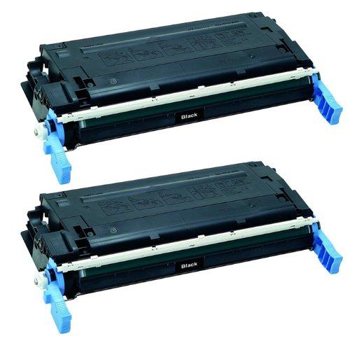 HI-VISION® 2 Pack Remanufactured HP 643A Q5950A Black Toner Cartridge Replacement for Color LaserJet 4700,4700dn,4700n,4700dtn,4700ph+
