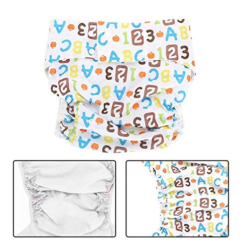 Adult Cloth Diaper - Adult Cloth Diapers for Incontinence Care-Reusable, Washable Breathable Adjustable with Side Leaks, Strong Water Absorption, Suitable for Elderly(Figure)