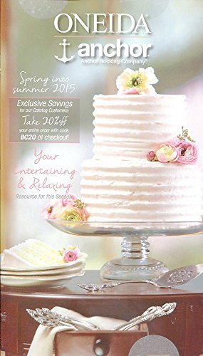 ONEIDA ANCHOR HOCKING SPRING INTO SUMMER 2015 CATALOG /ILLUSTRATED /COLLECTIBLE