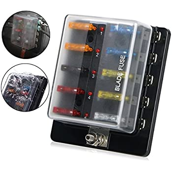 auxiliary automotive fuse box holder add 6 fused circuits for rh amazon com