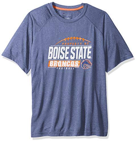NCAA Boise State Broncos Mens NCAA Men's Short Sleeve Football Season Jersey Teechampion NCAA Men's Short Sleeve Football Season Jersey Tee, New Royal, X-Large ()