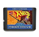 Taka Co 16 Bit Sega MD Game X Men 2 Clone Wars 16 bit MD Game Card For Sega 16bit Game Player