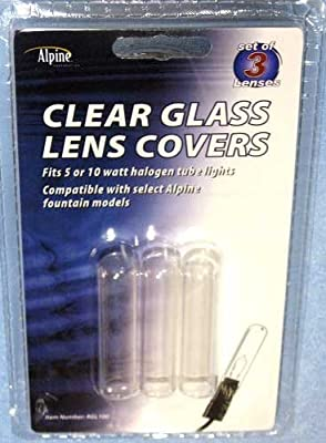 (3 PACK) Submersible Fountain Tube/Pen/Finger Light Clear Lens Replacement, RGL100