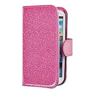 JJE Glint Pattern PU Leather Full Body Case for Samsung Galaxy Note 2 N7100(Assorted Color) , Black