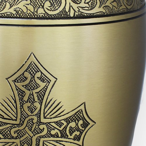 Love of Christ Gold Burial or Funeral Adult Cremation Urn for Human Ashes - Large, Adult by Commemorative Cremation Urns (Image #2)