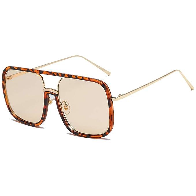 6482b9c44f58 Retro Square Sunglasses 80s Vintage Fashion Designer Sunglasses for Men  Women Gold/Silver: Amazon.co.uk: Clothing