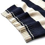 SOUHUKIDS Boys Cable Knit Vest Winter Cotton V-Neck Sleeveless Strip Sweatshirt Sweater Pullover Kids Warm Vest 5-6T
