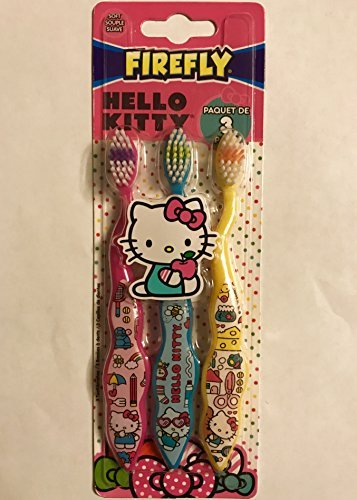 Firefly Hello Kitty Toothbrushes (3), 3 Count (Toddler Toothbrush Girl)