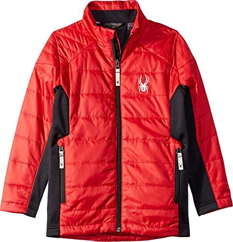 Spyder Boys' Glissade Insulator Jacket, Red/Black/Black, Large