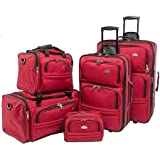 Samsonite 5 Piece Nested Luggage Set, Red