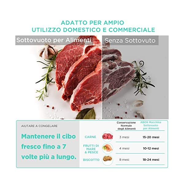 ABOX V63 Macchina Sottovuoto per Alimenti Professionale, 5 in 1 Sigillatrice Sottovuoto Secchi e Umidi con Taglierina… 6