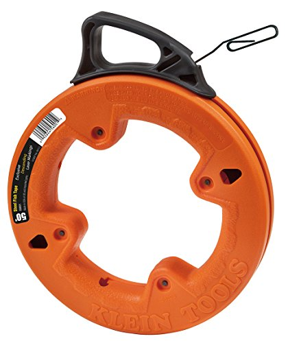 Klein Tools 56001 Depth Finder with High Strength 1/8-Inch Wide Steel Fish Tape, 50-Foot Length
