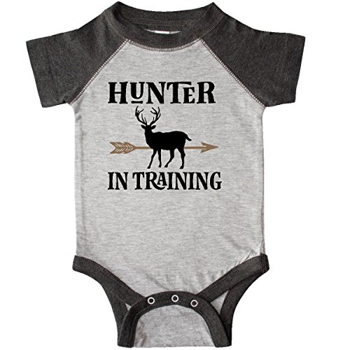 Infant Bodysuit Hunter Sports (inktastic - Hunter in Training Infant Creeper Newborn Heather and Smoke 2de6a)