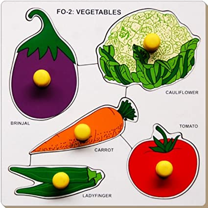 Little Genius Vegetables with Big Knob (Small)