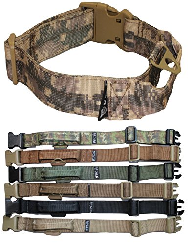 - FDC Heavy Duty Tactical Military Army Dog Collars Handle Width 1.5in Plastic Buckle Medium Large M, L, XL, XXL (L: Neck 14