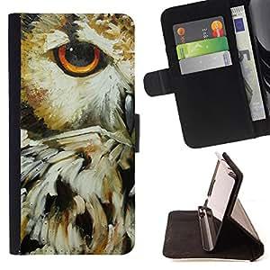 - Owls Owl Cartoon - - Monedero PU titular de la tarjeta de cr?dito de cuero cubierta de la caja de la bolsa FOR Sony Xperia Z1 L39 Retro Candy