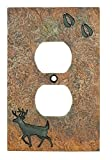 Cheap Big Sky Carvers B5050108 Deer with Tracks Single Outlet Cover,