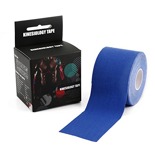 Kinesiology Tape Perfect Support for Sports Athletic Relieve Pain and Sore Muscles Knee Shoulder Back Calf Elbow Neck Wrist Arm and more - Uncut 2 in X 16.4 In / - Review Cart Rx