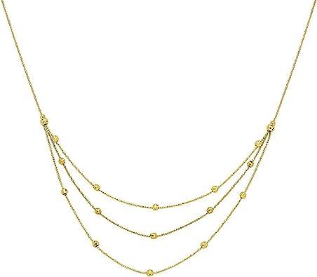 Two strand bib style necklace