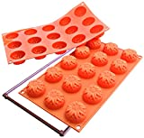 Silikomart Silicone Fancy and Function Bakeware Collection Multi Cake Pan, Sunflower, Small
