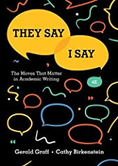 The best-selling book that demystifies academic writing This book identifies the key rhetorical moves in academic writing. It shows students how to frame their arguments as a response to what others have said and provides templates to help th...